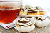 Творожное печенье глазированное шоколадом