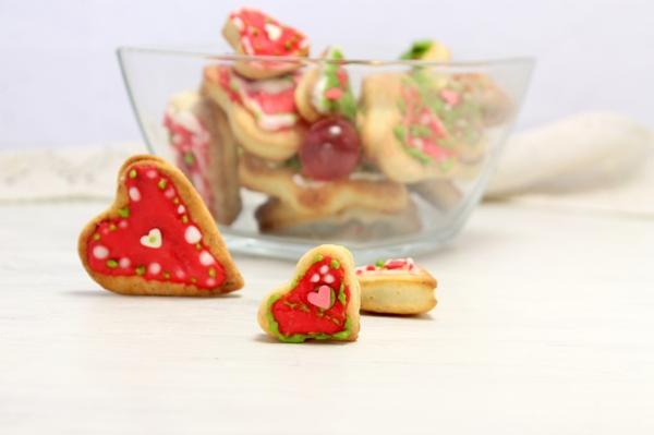 Печенье с глазурью, творожное