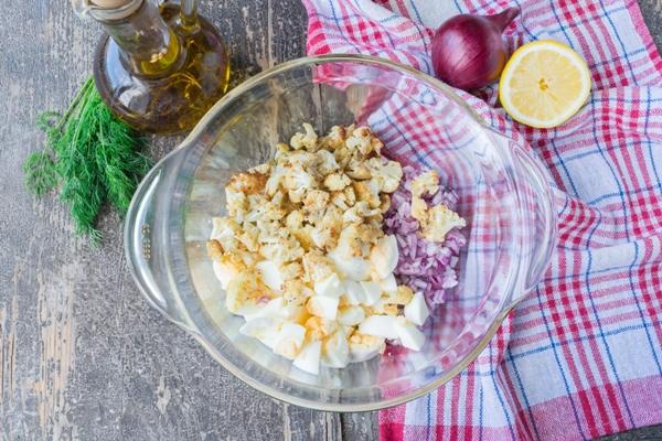 Салат из цветной капусты - шаг 5