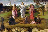 Преображение Господне. 1480. Джованни Беллини. Музей Каподимонте. Неаполь