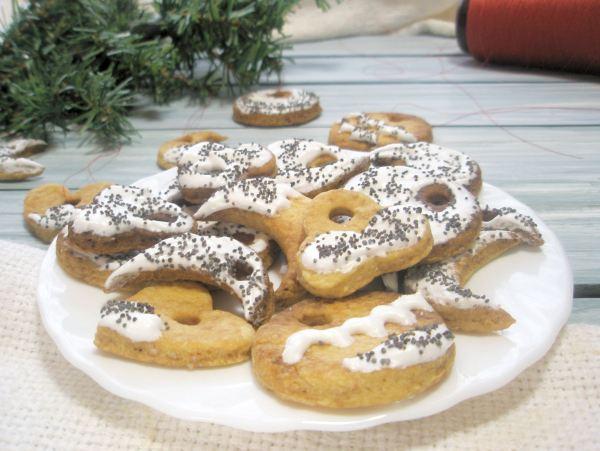 новогоднее печенье на ёлку