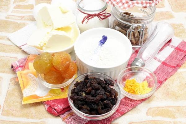 Ингредиенты для рождественского кекса