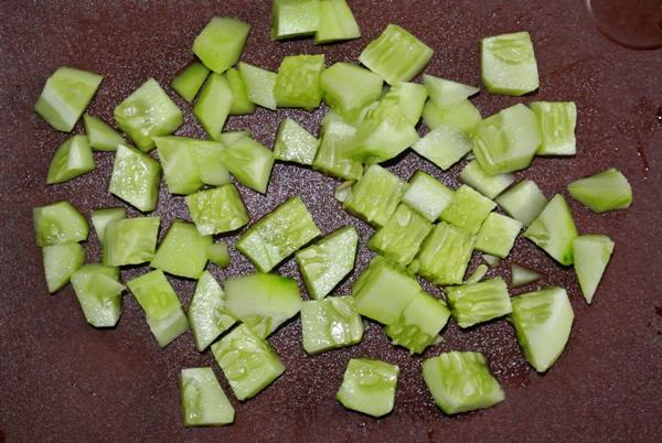 Греческий салат - шаг 1