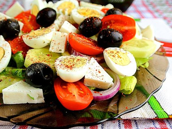 Салат дл завтрака – шаг
