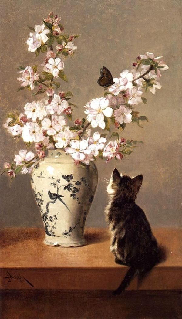 Бабочка, 1870. Джон Генри Дольф (1835-1903), американский художник