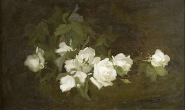 Белые розы. Джеймс Стюарт Парк (1862-1933), шотландский художник