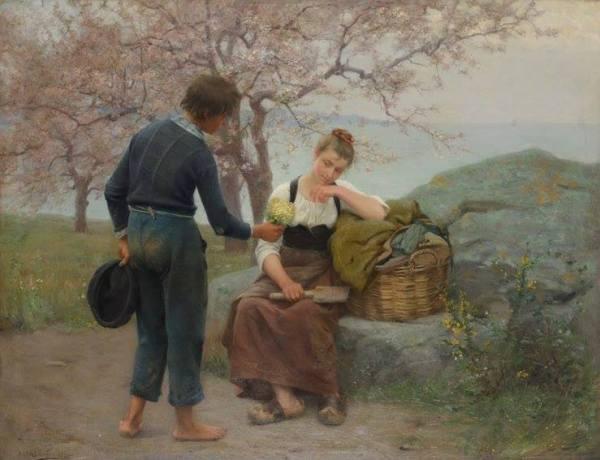 Букет первоцветов, 1890. Альфред Гийу ( фр., 1844-1926). La Piscine Museum. Рубе, Франция