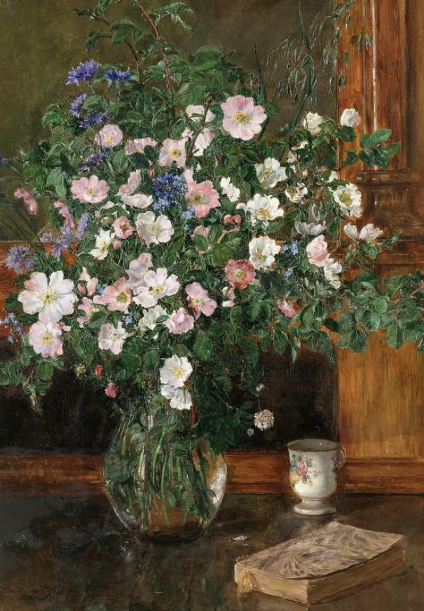 Wild Briar Roses (1908). Anna Munthe-Norstedt (Swedish, 1854-1936)