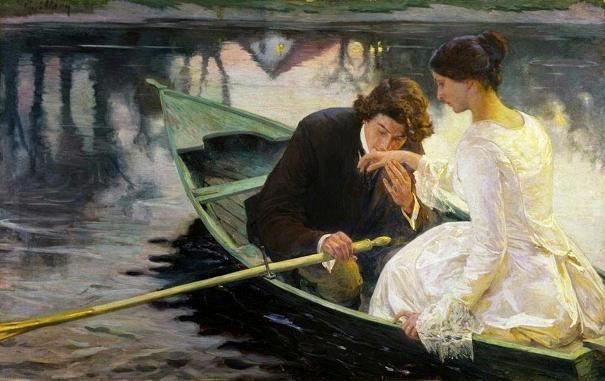 Двое в лодке. Норберт Гёнётт (1854-1894), французский художник