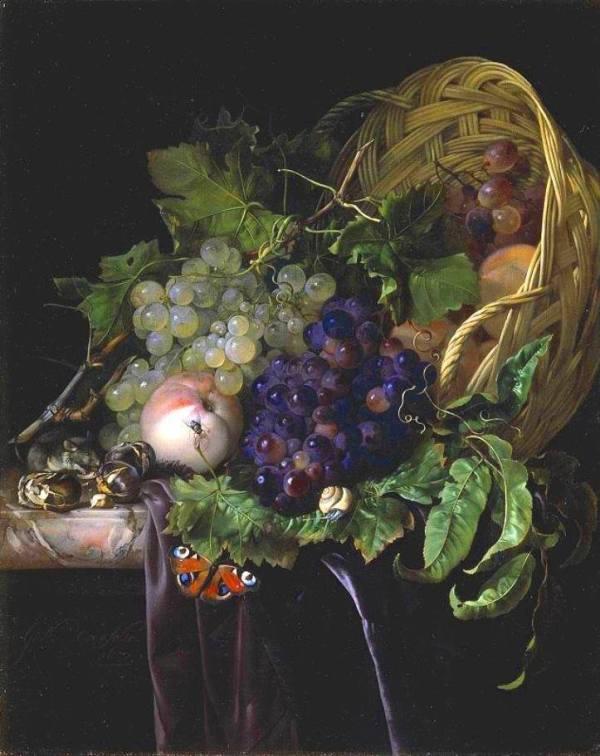 Фруктовый натюрморт, 1677. Частная коллекция. Виллем ван Алст (1627-1683) — художник эпохи барокко, представитель голландской школы цветочного и фруктового натюрморта.