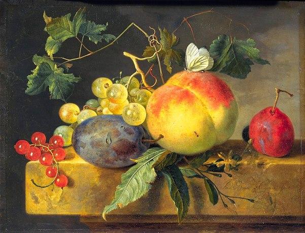 Фруктовый натюрморт. Ян ван Хёйсум (1682-1749), нидерландский художник. Королевская галерея Маурицхёйс. Гаага, Нидерланды.