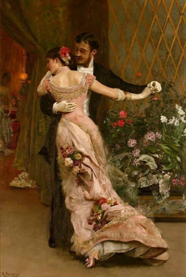 Конец бала, 1915. Рохелио де Эгускиса (1845-1915), испанский художник, скульптор и график