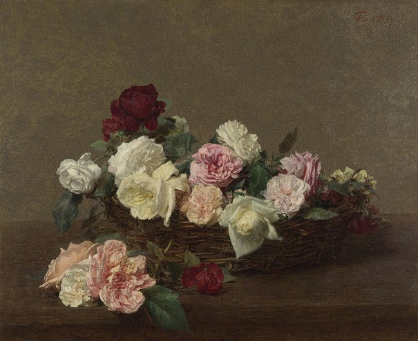 Корзина роз. Анри Фантен-Латур (1836-1904). Национальная галерея, Лондон.