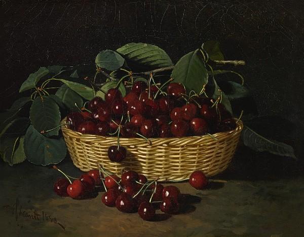 Корзинка с вишнями, 1880. Эдвард Чалмерс Ливитт (1842–1904), американский художник