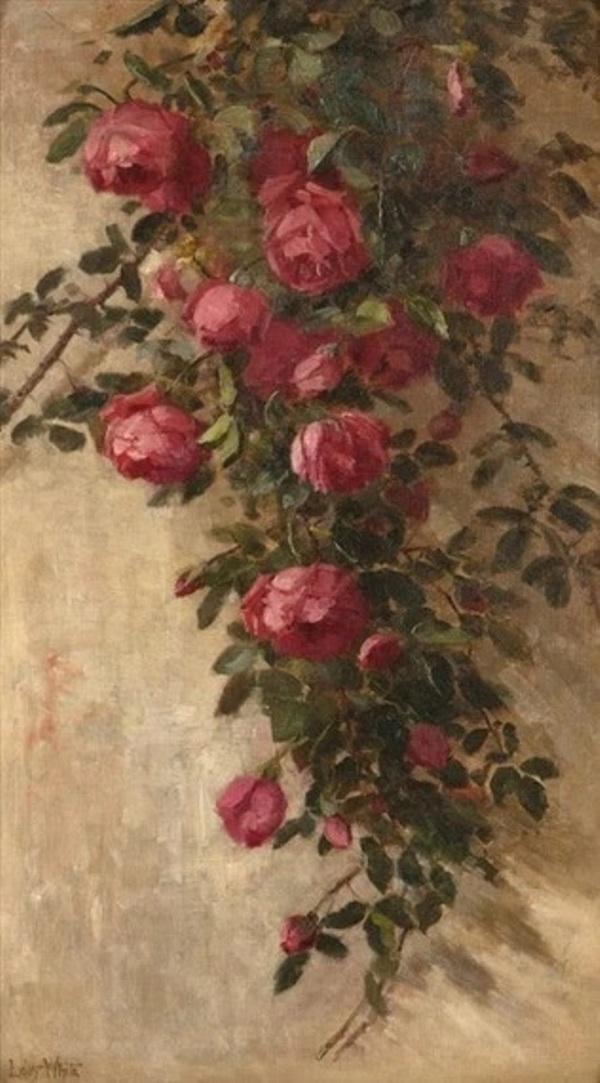 Красные розы. Эдит Уайт (1855-1946), американская художница