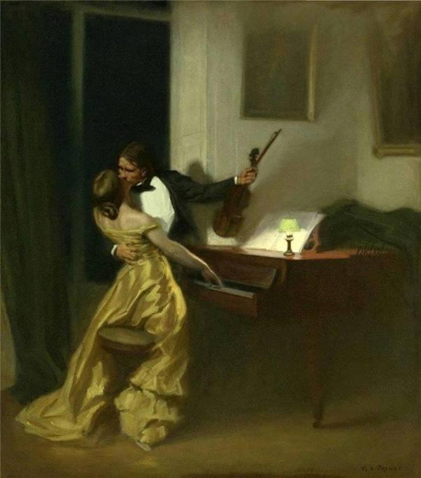 Крейцерова соната, 1901. Рене-Ксавье Прине, французский художник