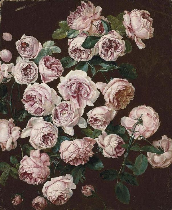 Куст роз. Панкрас Бесса (Pancrace Bessa, 1772-1846). Холст масло. 46,5 x 56 см.