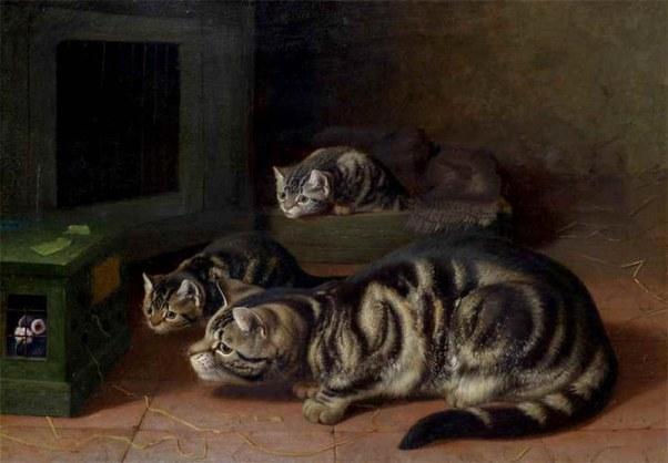 Любопытство. Горацио Генри Коулдри (Horatio Henry Couldery, 1832–1893), английский живописец и иллюстратор