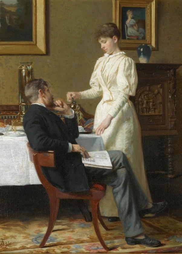 Медовый месяц, 1893. Карл Томсен (1847-1912), датский художник