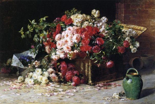Натюрморт с розами, 1890. Эббот Фуллер Грейвс (1859-1936), американский художник