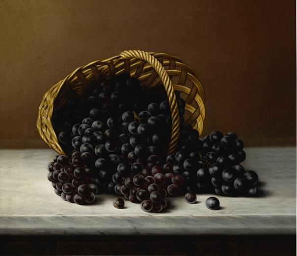 Натюрморт с виноградом, 1885 г. (холст, масло), Дж. А. Хендрик