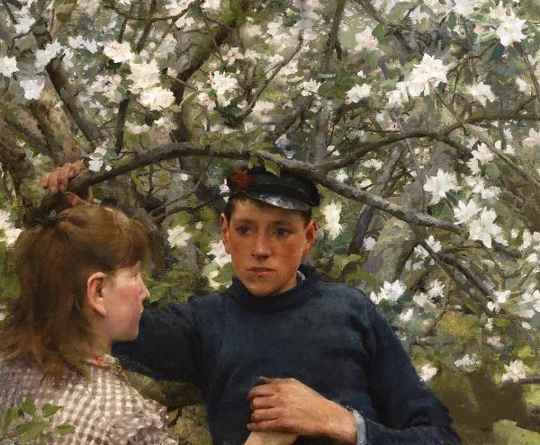 Обещание, 1888. Генри Скотт Тук (1858-1929), английский художник-импрессионист