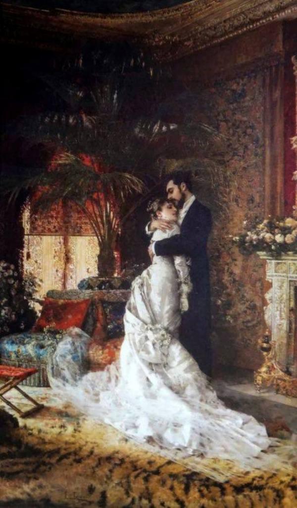 Одни, наконец-то... 1881. Edoardo Tofano (1838-1920), итальянский художник. Британский музей, Лондон