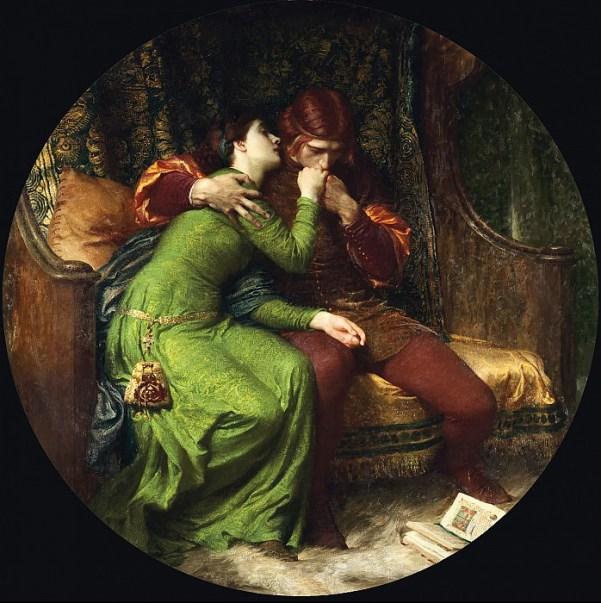 Паоло и Франческа, 1894. Сэр Фрэнк Бернард Дикси (1853-1928), английский художник