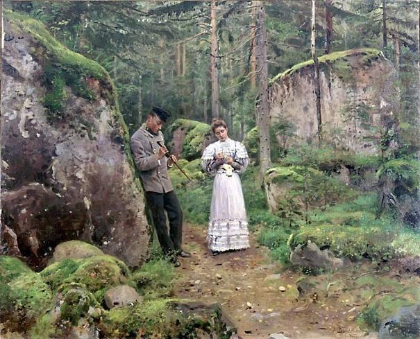 Перед объяснением (Свидание), 1898-1900. Владимир Маковский. Самарский художественный музей