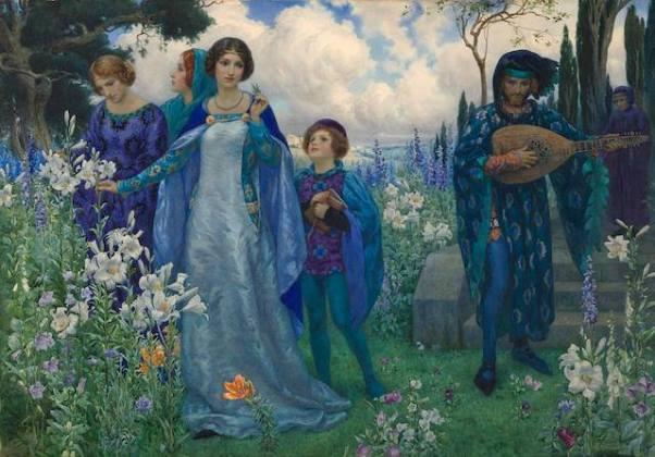 Песнь о любви. Гарри Джордж Теакер (1873-1954), британский художник. Частная коллекция