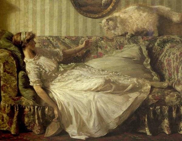 Послушный перс. Чарльз Дэниел Уорд (1872-1936), британский художник
