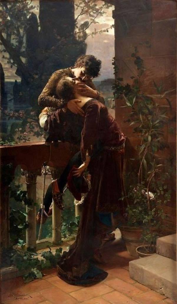 Ромео и Джульетта на балконе. Юлиус Кронберг (1850-1921), шведский художник