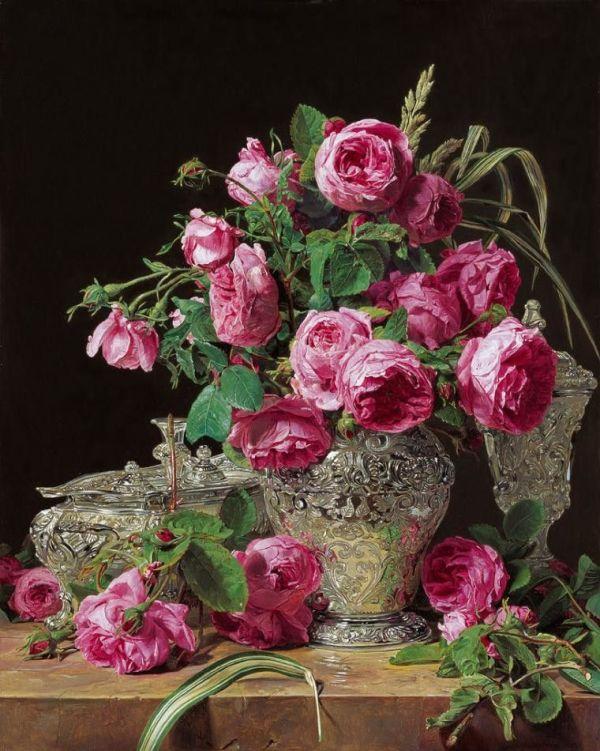 Розы, 1843. Фердинанд Георг Вальдмюллер (1793-1865), австрийский художник
