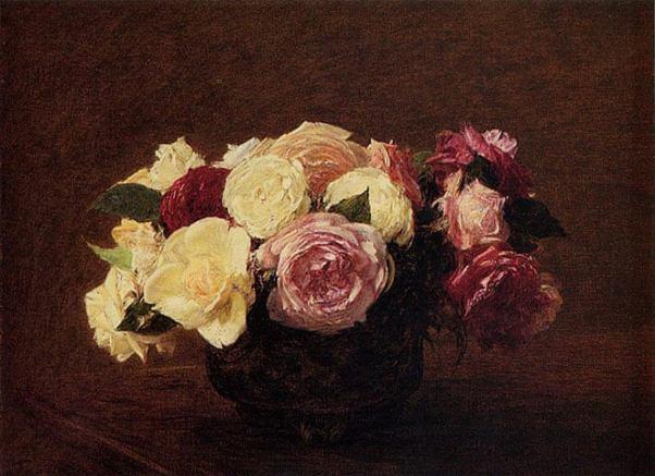 Розы. Анри Фантен-Латур (1836-1904), французский художник