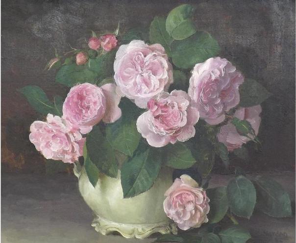 Розы ФантенЛатур, 1982. Масло на картоне. Джеральд Норден (1912–2000), британский художник