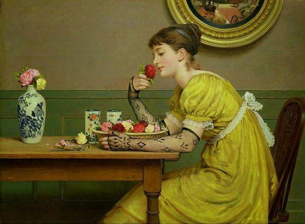 Розы. Лесли, Джордж Данлоп (1835-1921), английский художник. Hamburger Kunsthalle, Гамбург, Германия