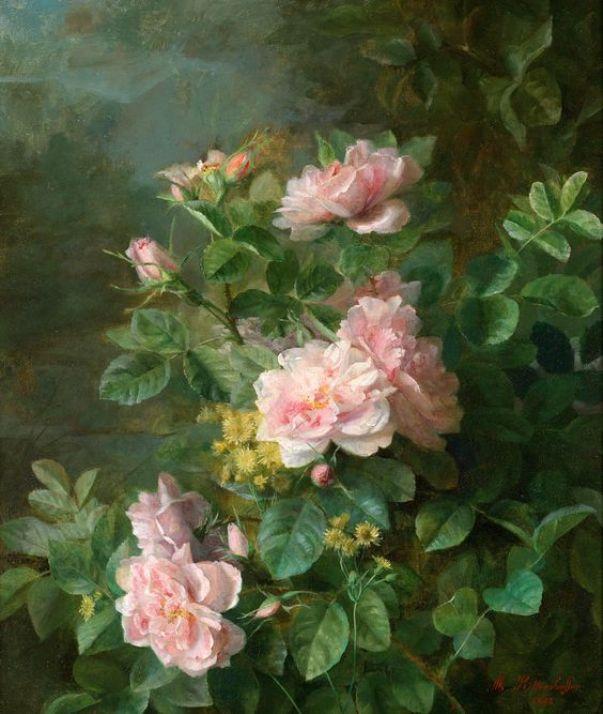 Розы. Жюль Фердинанд Медард (1855-1925), французский художник