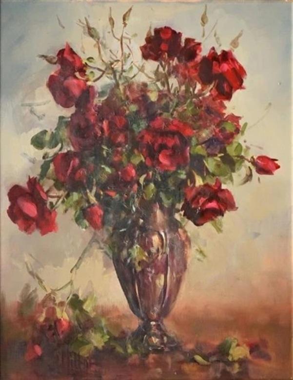Розы. Холст, масло. Кэрол Милтон, р. 1937, австрийская художница