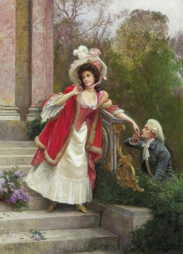 Влюбленные. Жюль Жирарде (1829-1894), французский художник