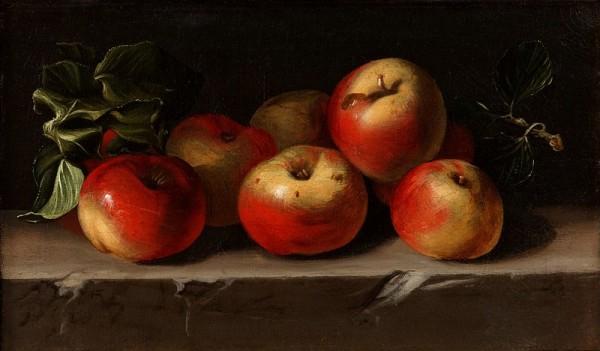 Натюрморт с яблоками. Эспиноса, Хуан Баутиста де (Espinosa, Juan Bautista de, 1590-1641), Музей Прадо. Мадрид, Испания