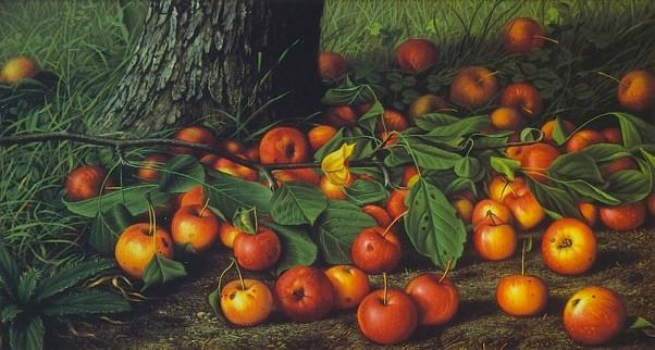 Яблочное изобилие. Леви Уэлс Прентис (1851-1935), американский художник натюрмортов и пейзажей.