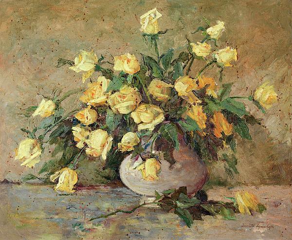 Жёлтые розы. Жаннетт Агнью Лион (1862-1942), американская художница