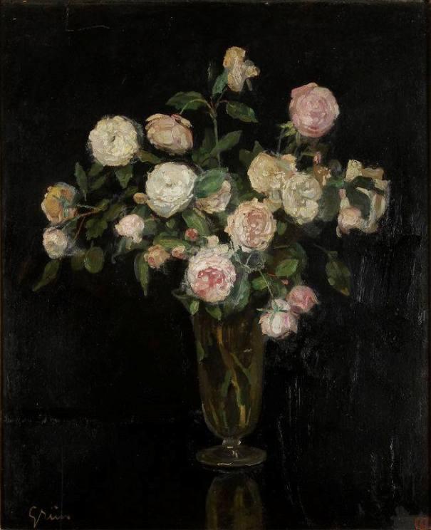 Букет роз. Жюль-Александр Грюн (1868, Париж — 1938, Париж), французский художник