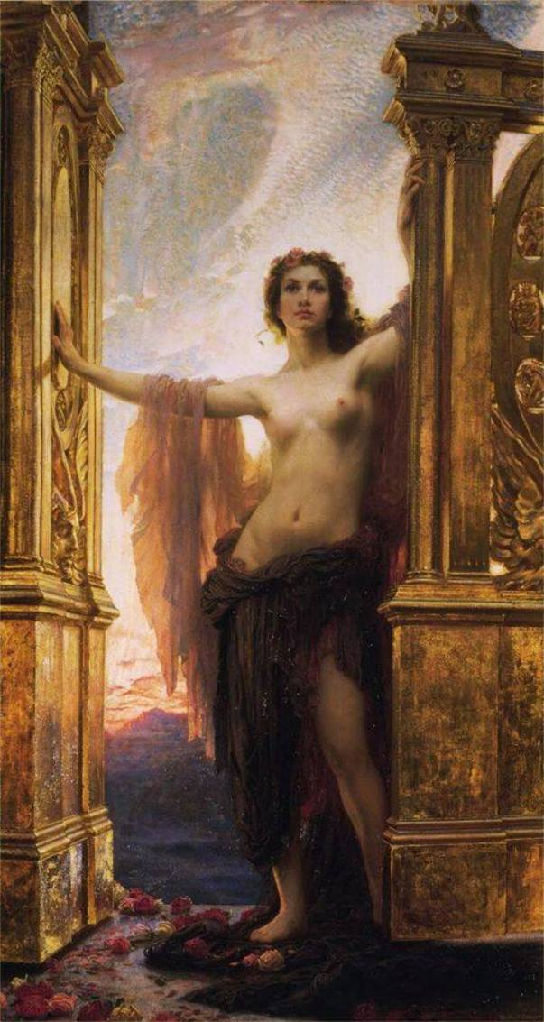 Аврора открывает врата зари, 1900. Герберт Дрейпер (1863-1920) — английский художник