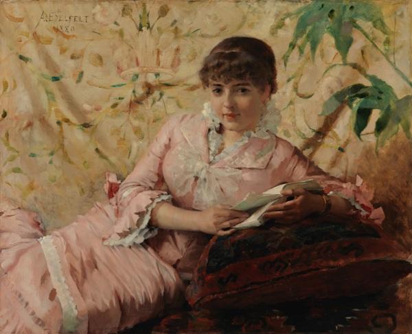 Читающая парижанка, 1880. Холст, масло. Финская национальная галерея
