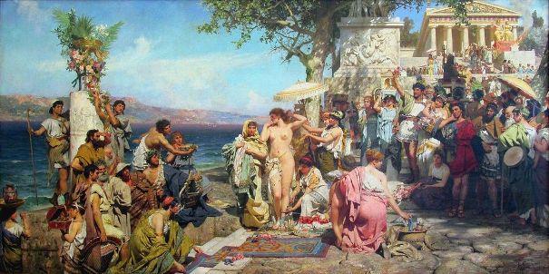 Frina-na-prazdnike-Poseydona-1889-Genrikh-Semiradskiy