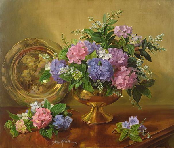 Гортензии и сирень. Альберт Уильямс (1922–2010), английский художник