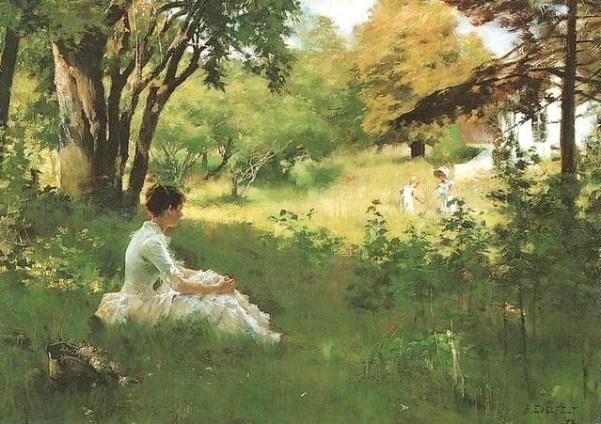 Лето, 1893. Холст, масло Альберт Эдельфельт. Гётеборгский музей искусств.