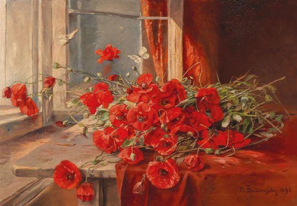 Маки, 1898. Минна фон Будинский (1850-1913), австрийский художник