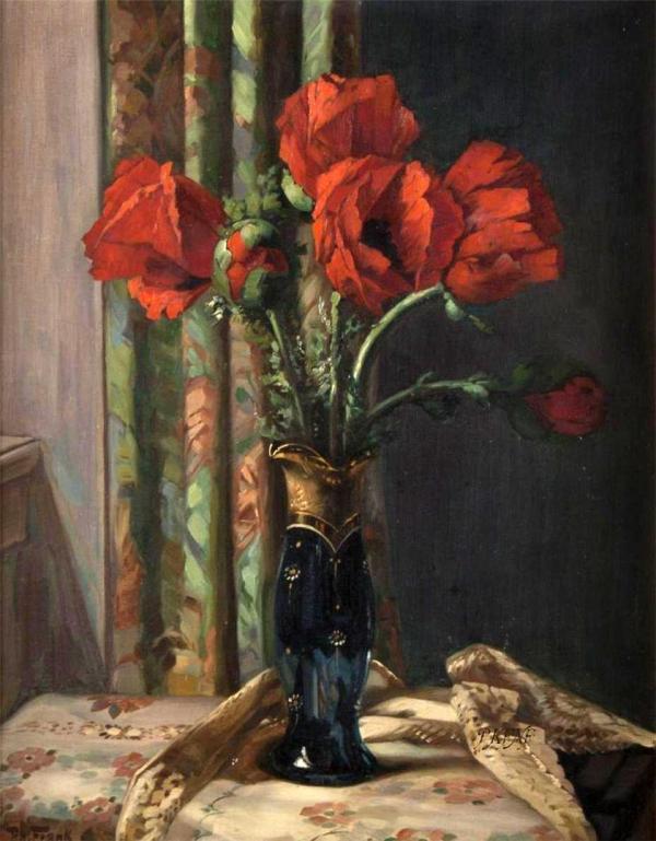 Маки. Георг Маевич (1897-1965), немецкий художник